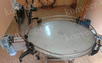 Конвейер пластинчатый со столом накопительным