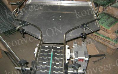 Конвейер пластинчатый с накопительным столом