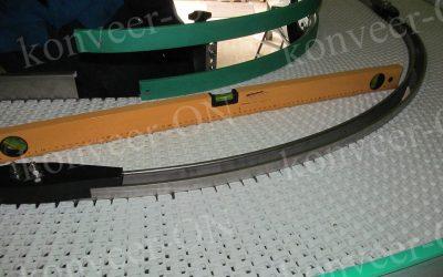 Конвейер с модульной лентой поворотный